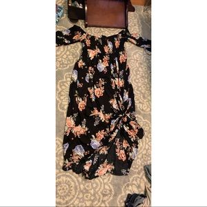 Floral Torrid Maxi Dress size 2